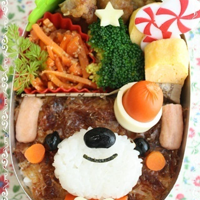 簡単♪わんチャンのクリスマス弁当(作り方)