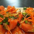 トマトのキムチと大宮のお見送りのリダ