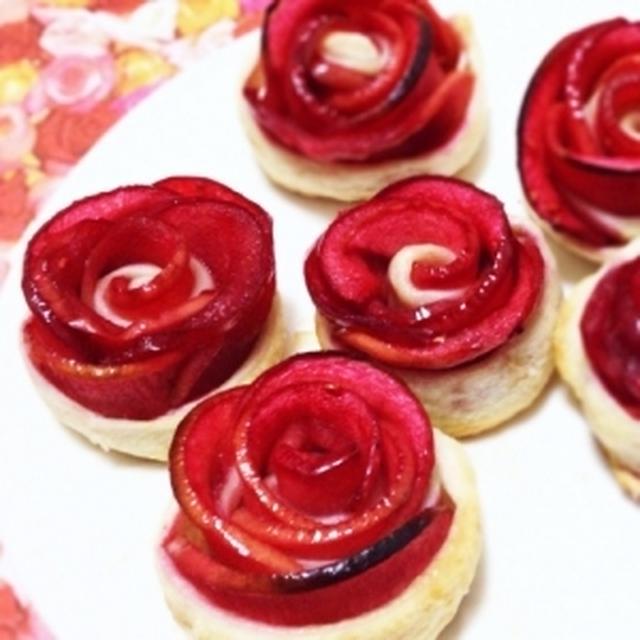 薔薇の花のアップルパイ。