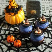 * ハロウィン ☆ 魔女の帽子カップケーキ♪
