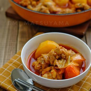 フライパンで*タットリタン(韓国鶏肉辛鍋)*