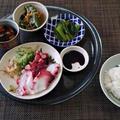 喜んだ蛸のお刺身☆万願寺唐辛子の雑魚炒り煮♪☆♪☆♪ by みなづきさん