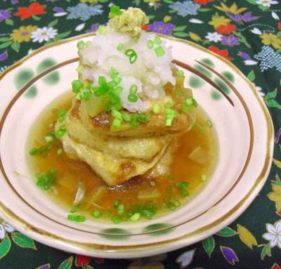 塩グレープフルーツ餡かけ揚げ出し豆腐