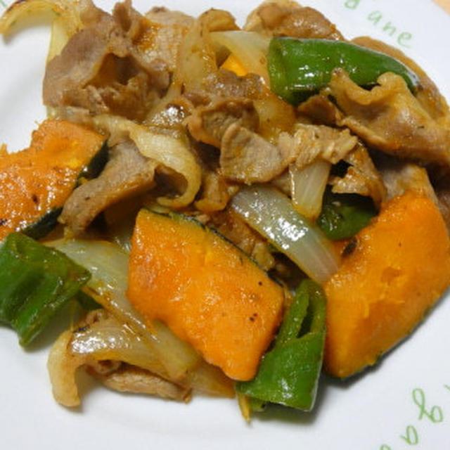 豚肉とかぼちゃの禁断の黒胡椒炒め
