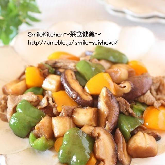 レシピ【老化防止に期待!!豚肉と野菜の黒酢炒め】