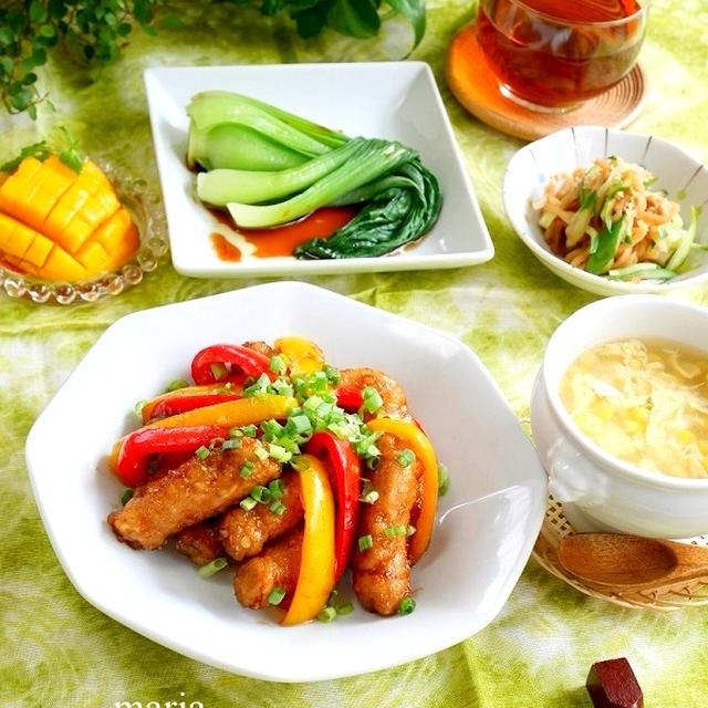 モダンチャイニーズ*中華風ふわふわ卵とコーンのスープ