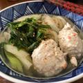 水炊きの〆はこれ♪といっても次の日のお昼に作った絶品の〆は~野菜たっぷり鶏団子入りうどん♪