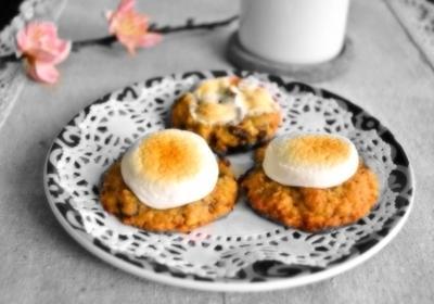 焼きマシュマロとヌテラのチョコチップクッキー