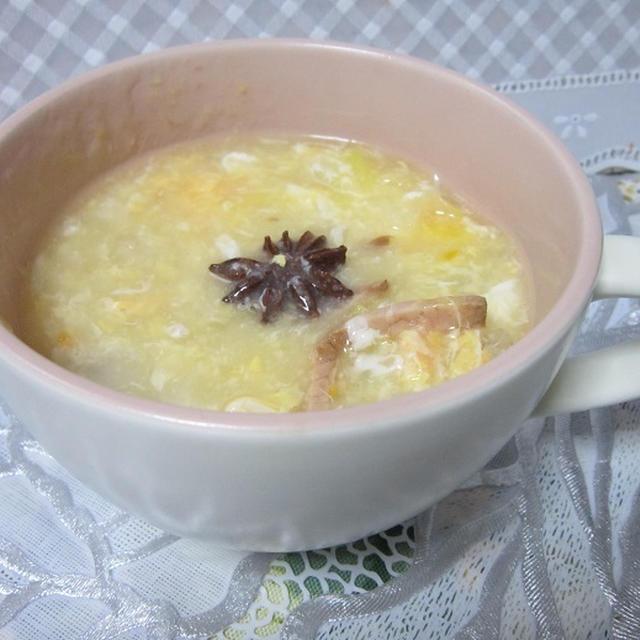 スターアニスでふんわり卵の中華スープ
