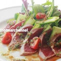 ヘルシーでスタミナ満点!焼きまぐろサラダ香味ソースの作り方(動画)