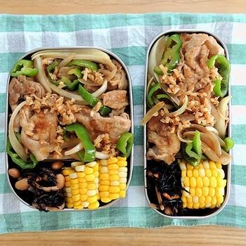 豚W生姜焼き弁当と酢鶏定食