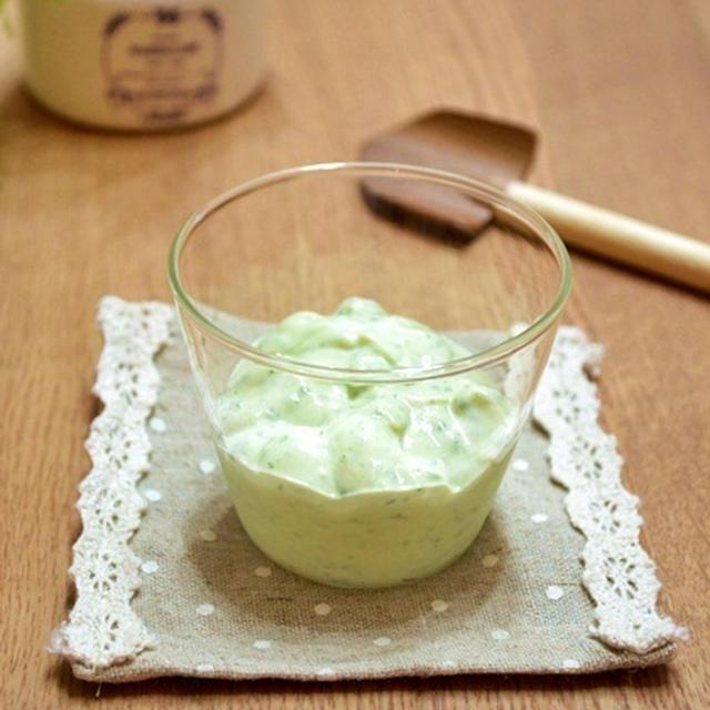 亜麻仁油と塩麹の冷たいクリームソース