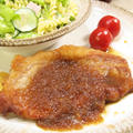 【和食】簡単!「厚切り豚ロースで♪ポークジンジャー」&お惣菜屋さんみたい?なマカロニサラダ。 by きちりーもんじゃさん