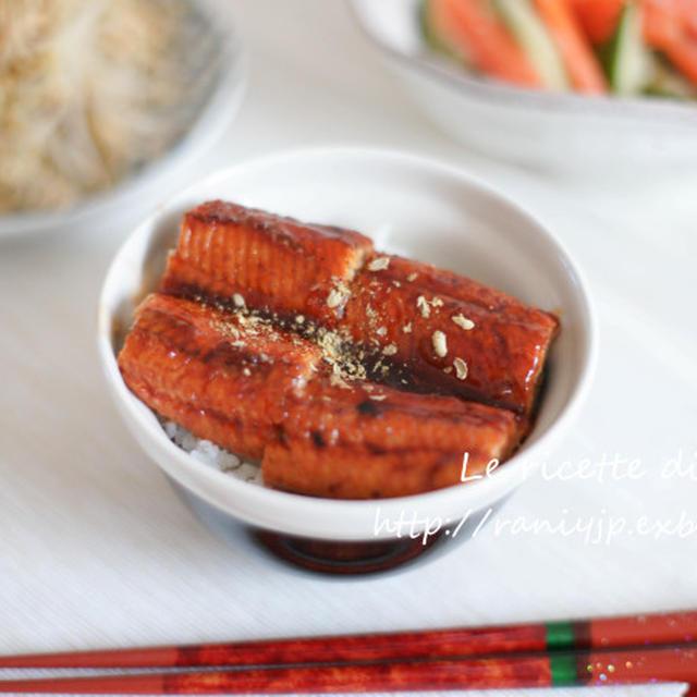 Unadon イタリアで鰻丼! 〜レトルトうなぎ蒲焼を美味しく温める方法〜