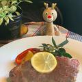 今年は豚肉のグリル焼きでクリスマス~昨日のレッスンのメイン料理です!プレゼントは鬼滅の刃クッキー