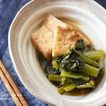 育ち盛りのお子さんにぜひ!!ダブルカルシウム♪厚揚げ豆腐と小松菜のうま煮
