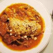 ☆若鶏骨付きもも肉のトマト煮込み〜炙りパルミジャーノ〜☆