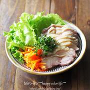 レンジ塩鶏のレタス巻き