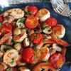 海老とマッシュルームの焼マリネ