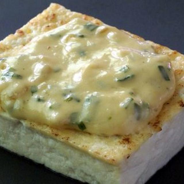 豆腐のチーズマヨソース