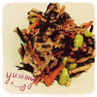 玄米を使った根菜サラダ♪