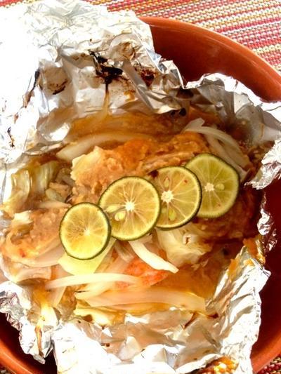 鮭のホイル焼き☆和風味噌味