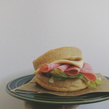 【うちごはん】久しぶりに♪ハムチーズサンド