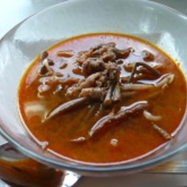 激辛スタミナ満点 ユッケジャンスープ (作り方も)