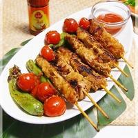 ★サテ風豚串と野菜焼★