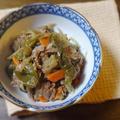 【作り置き】牛肉とピーマンと根野菜の佃煮