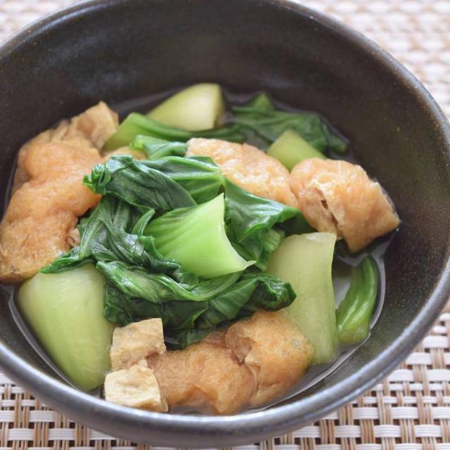 青梗菜と油あげの煮浸し