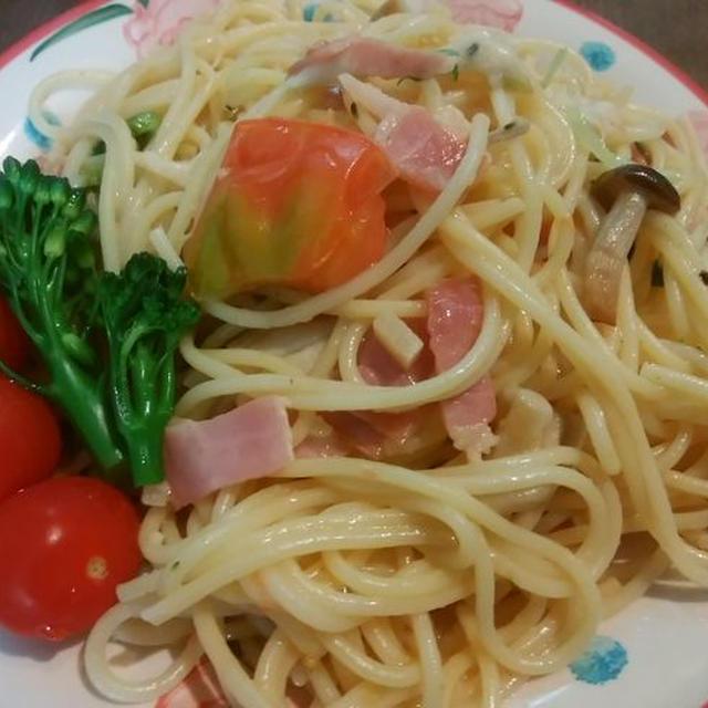 モッツァレラチーズとトマトのパスタ【チーズの風味が良い!】