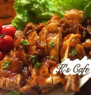 調味料2つで楽チン♫鶏肉のマーマレード煮♡