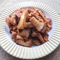 鶏ハラミとエリンギの味噌と焼肉のたれ炒め