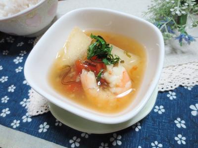 きまぐれランチ☆料理教室♪2016.9冬瓜とエビのスープ
