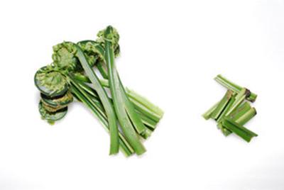 春の山菜 こごみの下処理