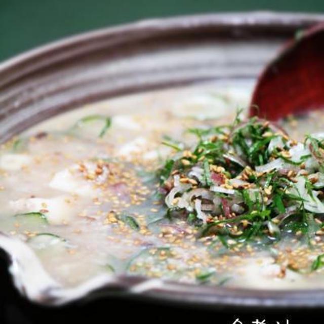 冷や汁・・・サバ水煮缶を使って。
