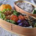 【むね肉de和風オニオンマスタードチキン】#むね肉#柔らかい#簡単#お弁当おかず …今週初めのお弁当と朝ごはん。