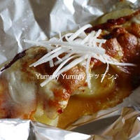 鱈とじゃが芋のキム味噌チーズホイル焼き♪