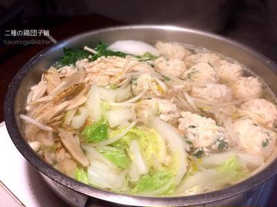 爽やかな風鶏団子と食感パラダイス鶏団子、2種の鶏団子で飽きないお鍋