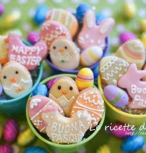 イースター アイシング クッキー☆ Buona Pasqua a tutti!