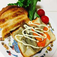 朝べジ♡きんぴらチーズマヨトースト♡