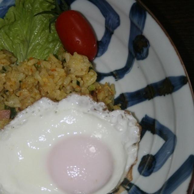 12月2日  カレー炒飯&目玉焼モーニング