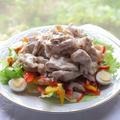 野菜も一緒に食べよう♪冷しゃぶサラダ☆豚肉を冷やした時に固く感じないコツ