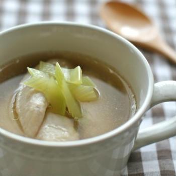 手羽先とセロリのスープ