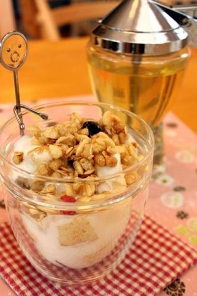 「朝食ヨーグルトパフェ」朝から幸せ気分に♪