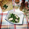 春菊と椎茸のナムル