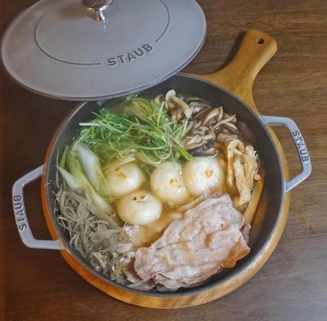 豚肉と水菜のハリハリ鍋