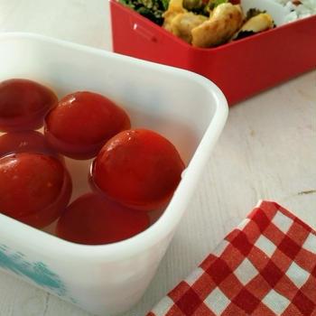 ミニトマトの甘酢漬け(らっきょう酢使用)