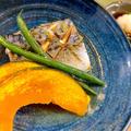塩さばとカボチャの柚子胡椒蒸し